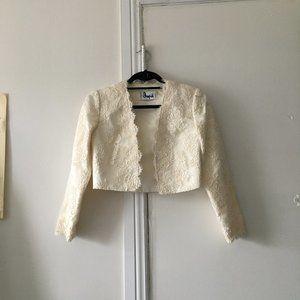 Vintage suit crop jacket off-white size XS